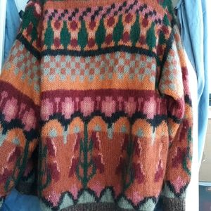 Hand Knit Mohair blend Cardigan